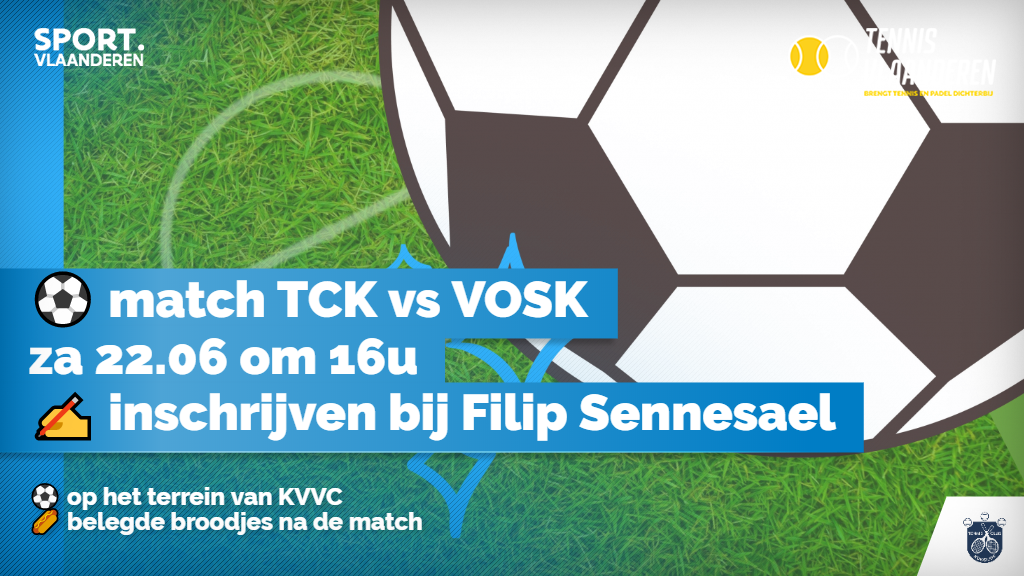 Voetbalmatch TCK vs VOSK